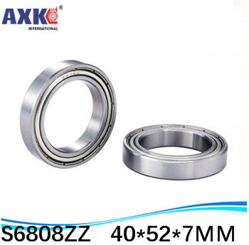 10pcs Free Shipping SUS440C environmental corrosion resistant stainless steel deep groove ball bearings S6808ZZ 40*52*7 mm