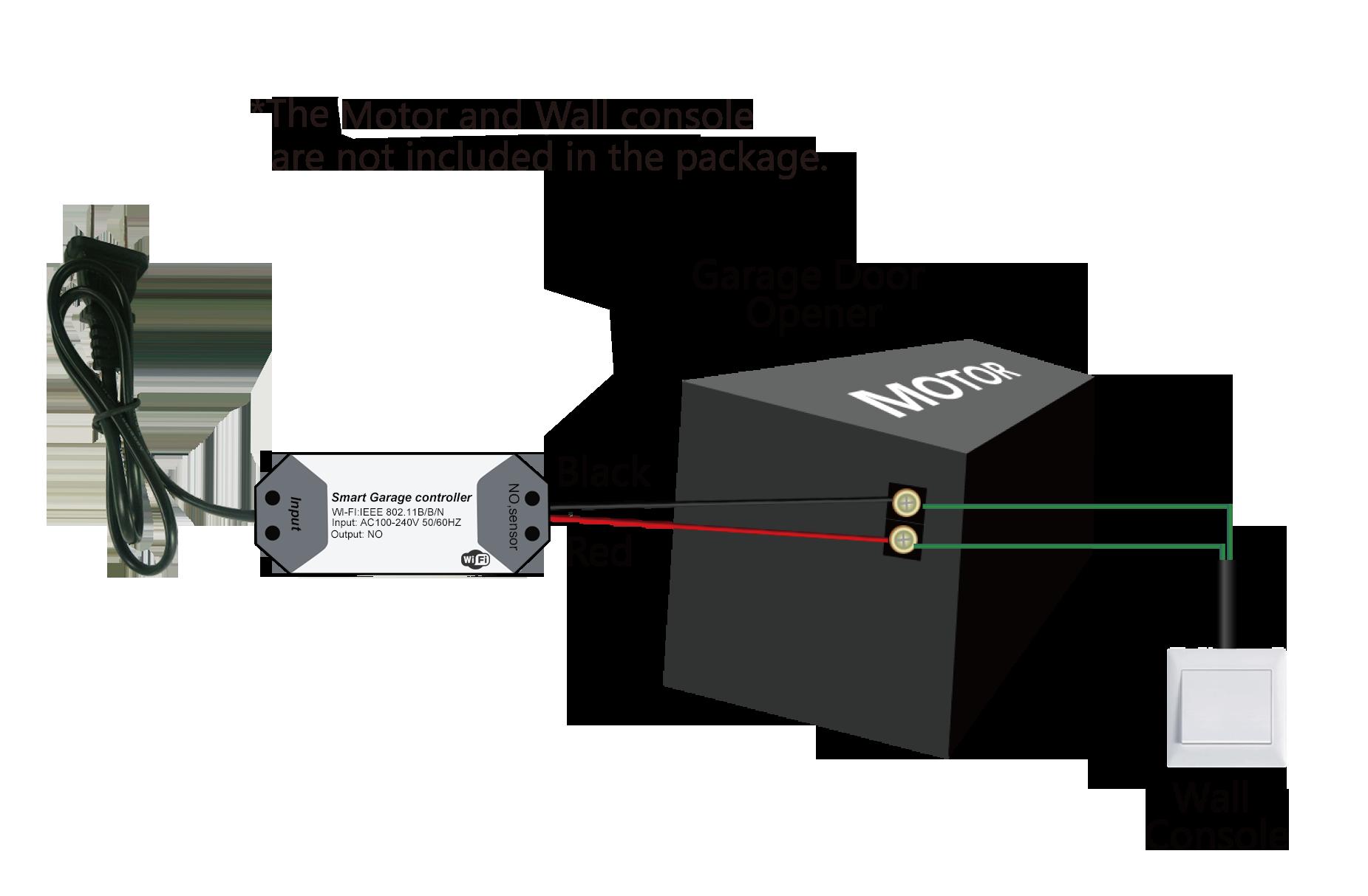 H1d8ec1ce4a374e3a9abf233ccea1624f4 Wofea WiFi Switch Smart Garage Door Opener Controller Work With Alexa Echo Google Home SmartLife/Tuya APP Control No Hub Require
