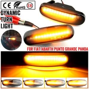 For Fiat Panda Punto Evo Stilo Qubo Peugeot Citroen Lancia Musa(350) Dynamic Smoke LED side marker light turn signal lamp