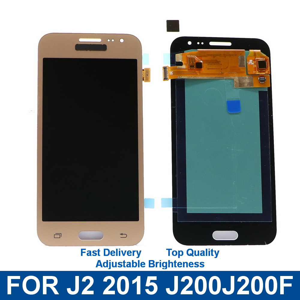 Für Samsung Galaxy J2 2015 J200 <font><b>J200F</b></font> J200M J200H J200Y <font><b>LCD</b></font> Display Touchscreen Digitizer Montage mit Helligkeit Control image