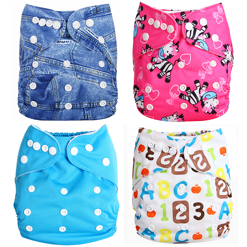 Nerlero Washable Baby Cloth Diaper Pocket Waterproof Cartoon Owl Baby Diapers Reusable Cloth Nappy Suit Pony 0-2years 3-15kg
