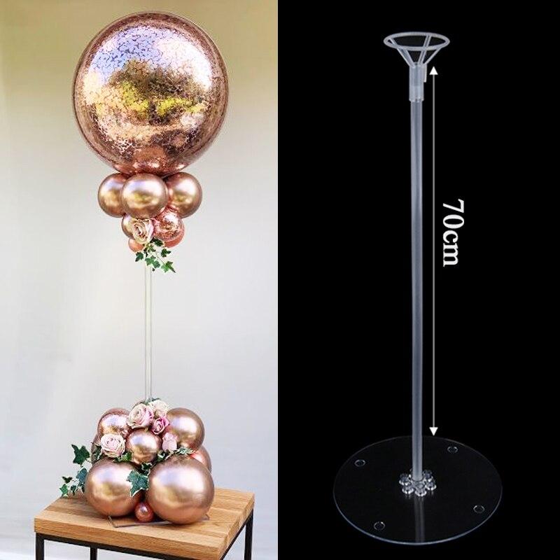 35/70cm decoração de festa de aniversário balões suporte de mesa de casamento suporte de balão coluna baloon vara globos acessórios de decoração para casa