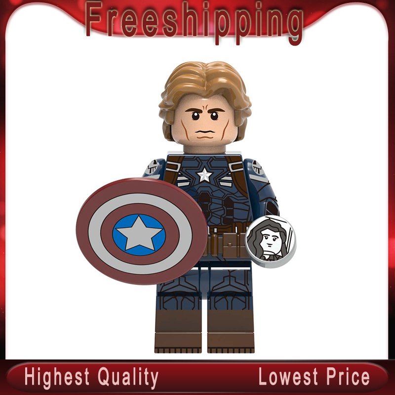Marvel Avengers Captain America Endgame Iron Man Thanos Thor War Machine spiderman Hulk Building Blocks bricks toy gifts XH1308