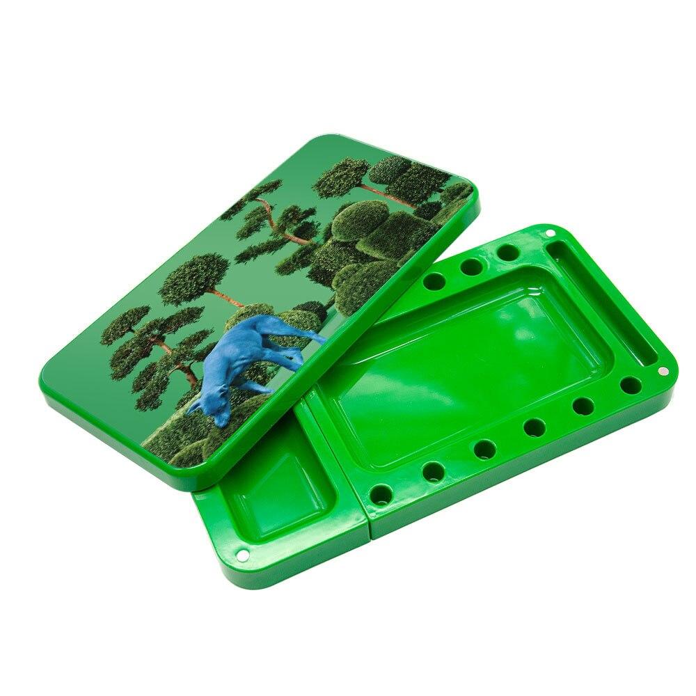 HONEYPUFF пластиковый поднос для сигарет, многофункциональный акриловый поднос для хранения табака высокой емкости - Цвет: Type-7