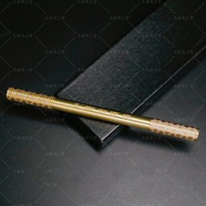 Image 4 - Golden Cudgel Creative Rollerball Pen Copper Dazzling Metal 0.5mm Fine Point Black Ink Business Gift Pens with Original Box