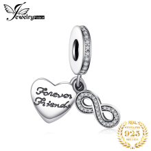 Jewelrypalace 925 Sterling Silver Infinity Friendship Cubic Zirconia Charm Bracelets Gifts For Women Fashion Jewelry Present