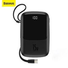 Baseus 10000Mah Power Bank 15Wชาร์จโทรศัพท์ 4 เอาท์พุท 2 อินพุตดิจิตอลจอแสดงผลแบตเตอรี่Powerbankชาร์จแบบพกพาสำหรับIP Samsung