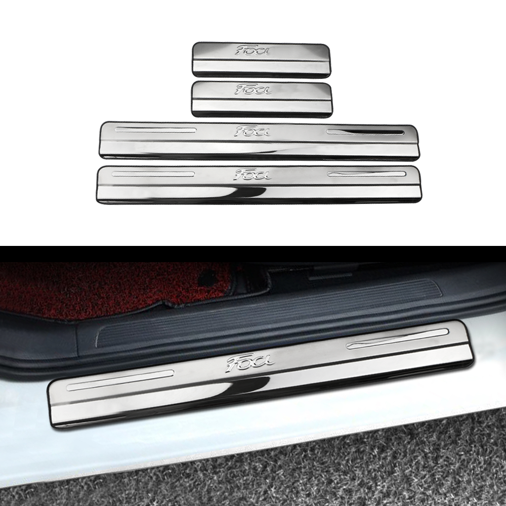 Daefar For Ford Focus 2 Focus 3 Mk3 Door Sill Plate Door Scuff Cover Kick Step Trim Protector Molding Car-styling Accessory