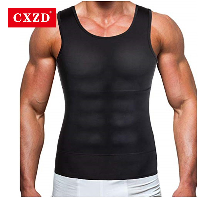 CXZD Men Corset Body Slimming Tummy Shaper Fat Burning Vest Belly Waist Girdle Shirt Shapewear Underwear Waist Girdle Shirts