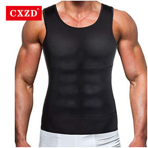 CXZD Tummy Shaper Shirt Underwear Girdle Burning-Vest Men Corset Belly-Waist Slimming