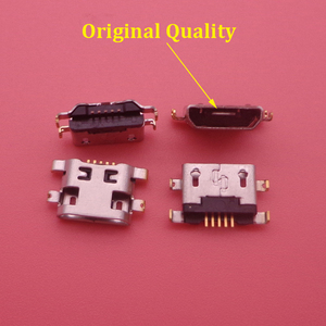 Image 1 - 500PCS/Lot Micro Usb For Alcatel 7040N Charge Port Dock Socket For Lenovo A708t S890 For Huawei G7 G7 TL00 Charging Connector