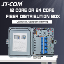 12 core or 24 core Termination FTTH fiber optic distribution box full with single mode pigtail SC adapter