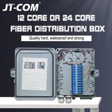Распределительная коробка FTTH с 12 или 24 ядрами, оптоволоконная распределительная коробка с одномодовым переходником pigtail SC