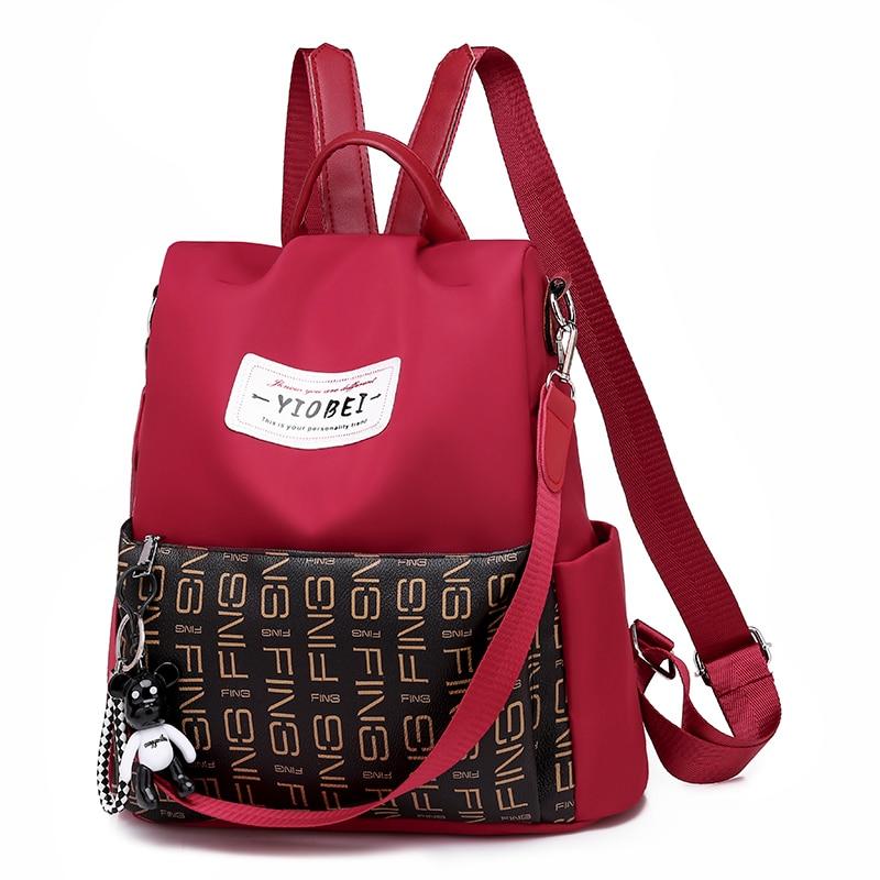 Купить с кэшбэком Women's waterproof backpack 2020 breathable trend backpack outdoor leisure and antitheft travel backpack Oxford cloth school bag