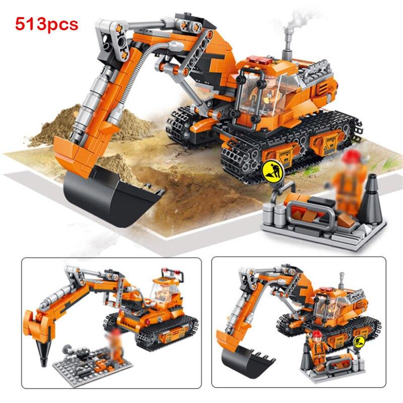 Engenharia bulldozer guindaste técnica misturador de cimento caminhão carro bloco construção cidade veículo carro brinquedo para crianças