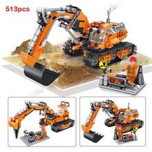 Engenharia bulldozer guindaste técnica caminhão bloco de construção cidade construção carro escavadeira educação brinquedos para crianças 4-6years