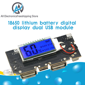Automatic Protection! Dual USB 5V 1A 2.1A Mobile Power Bank 18650 Lithium Battery Charger Board Digital LCD Charging Module