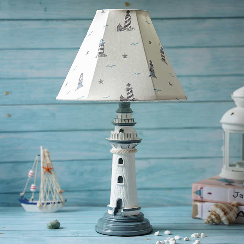 Mediterranean Lighthouse Table Lamps for Bedroom Children s Room Kids Reading Lamp Led Stand Light Fixtures