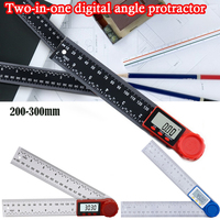 Medidor de ângulo inclinômetro ângulo digital régua goniômetro transferidor ferramenta medição ângulo digital localizador grande|Transferidores| |  -