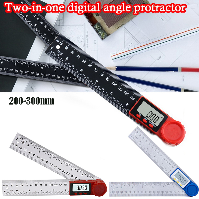 Meter Angle Inclinometer Angle Digital Ruler  Goniometer Protractor Angle Measuring Tool Digital Angle Finder  Large