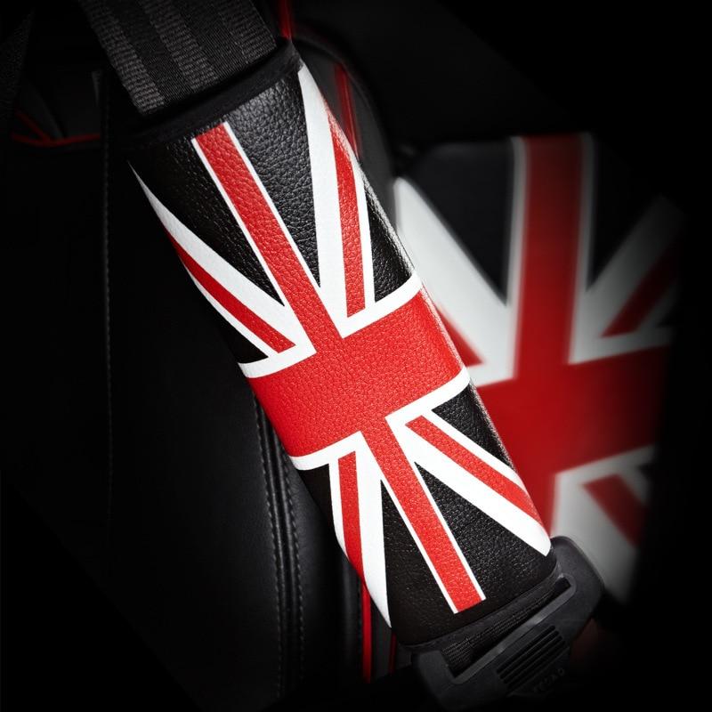 Manufacturers Direct Selling Car Shoulder Pad Leather South Korea Union Flag Safety Belt Shoulder Sleeve Support Customization C