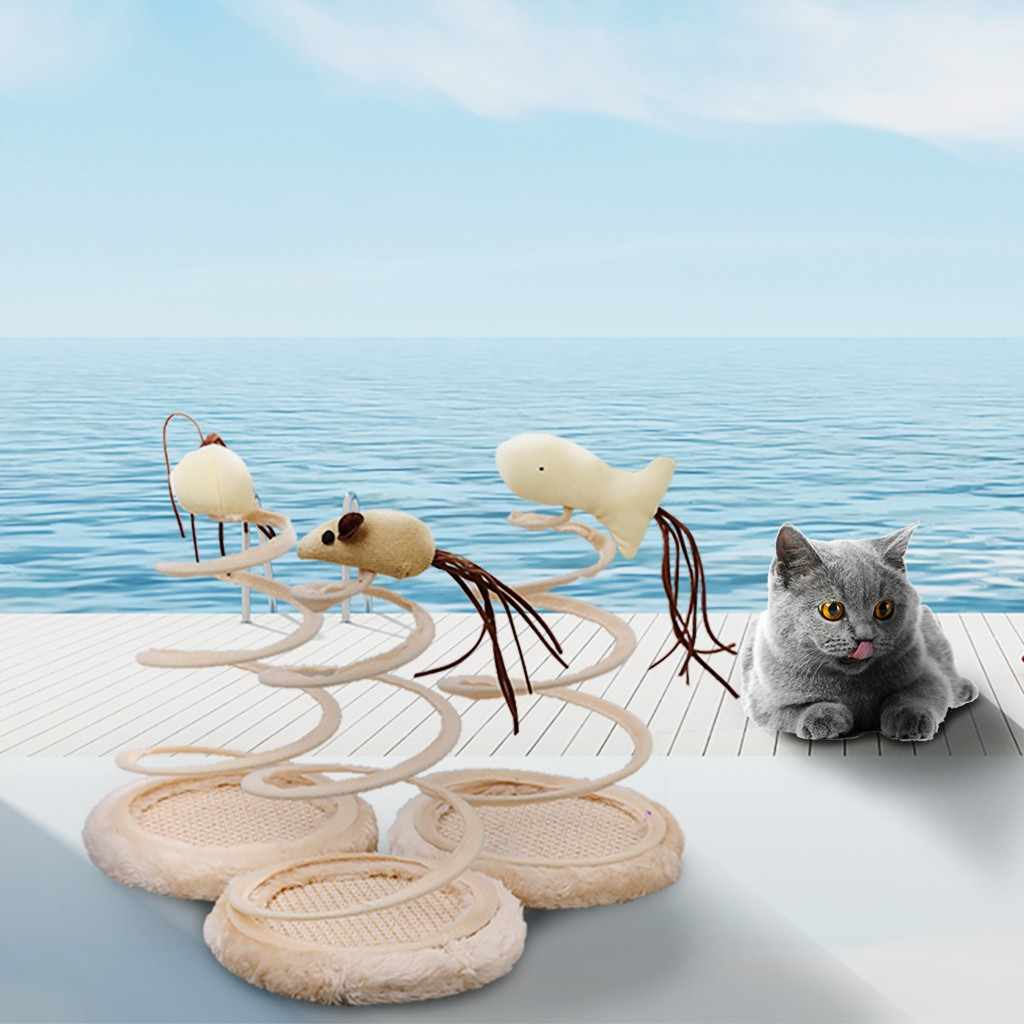 חיות מחמד חתול פטיפון צעצוע סימולציה עכבר מגרד צלחת אביב חתול קטיפה עכבר כדור דגים לשחק צעצועי גרדן צלחת חיות מחמד גאטוס