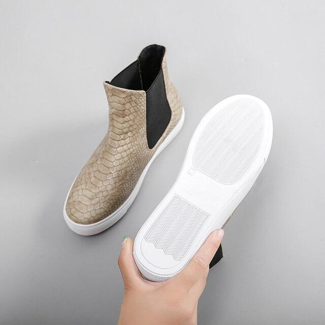 LAASIMI 2020 botas de invierno de leopardo para mujer botas de piel de serpiente zapatillas de mujer zapatos de mujer Casual Slip-On Ladies Flat Shoes Plus