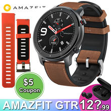 Amazfit GTR 47mm Smart Watch Xiaomi Huami 5ATM Waterproof Sports Smartwatch 24 Days Battery Music Control With GPS Heart Rate(China)