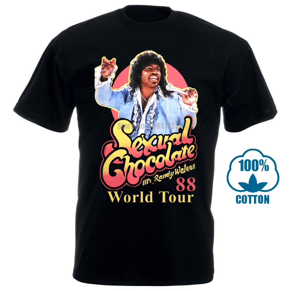 Sexual Chocolate 88' World Tour Randy Watson Coming To America T Shirt Mens And Womens Cotton Printing Shirt Big Size S Xxxl image