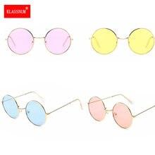 1pc kobiety okrągłe najnowsze okulary przeciwsłoneczne nowy styl hip-hopowy soczewki kolorowe okulary w stylu Retro Unisex metalowa rama Retro owalne okulary przeciwsłoneczne Hot