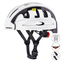 Cairbull encontrar dobrável ciclismo capacete com rearlight alta qualidade capacete de segurança da bicicleta cidade capacete ce en 1078 certificado