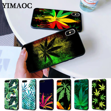 Tropical weed hemp leaves Silicone Case for iPhone 5 5S 6 6S Plus 7 8 11 Pro X XS Max XR
