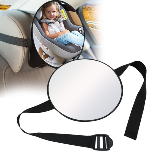 17*17cm Baby Car Mirror Car Safety View Back Seat Mirror Baby Facing Rear Ward Infant Care Square Safety Kids Monitor