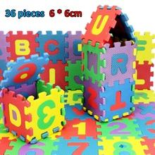 36 Pcs/Set Alphabet Letters Numerals Puzzle Mini PLAY MAT  Kids Children Soft EVA Foam Educational Learning Toys Dropship