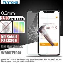 도매 HD 지우기 2.5D 강화 유리 화면 보호기 아이폰 11 12 프로 맥스 X Xs 맥스 XR 8 8 플러스 5 5S SE 6 7 플러스 100pcs