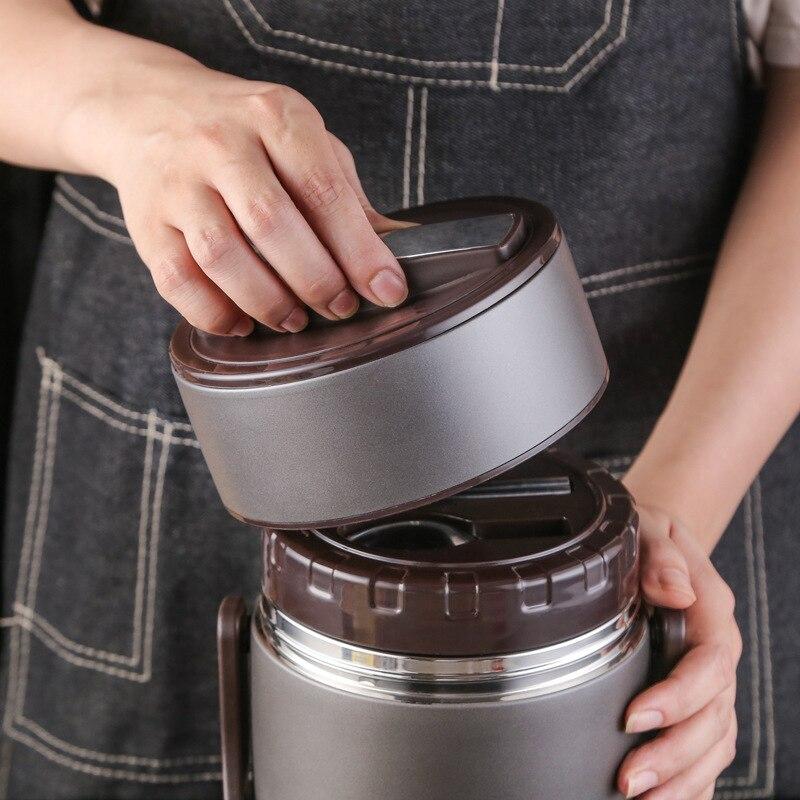 Термоусадочный контейнер для еды из нержавеющей стали 304, термос для супа с вакуумной изоляцией - 2