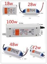 3 anos de garantia nova boa qualidade compacto led driver transformador de alimentação dc12v 18w-100w