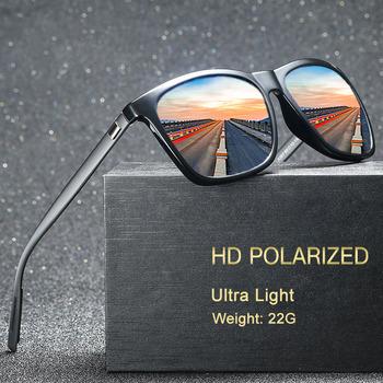 Aluminium magnezu spolaryzowane okulary mężczyźni lustro kwadratowe okulary marka mężczyzna kobiet okulary do jazdy UV400 okulary odcienie tanie i dobre opinie NerZhul Rectangle Dla osób dorosłych Magnes aluminium polaryzacyjne 49MM 60MM