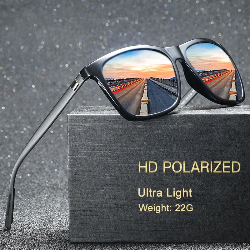 Aluminum Magnesium Polarized Men Sunglasses Mirror Square Sun Glasses Brand Male Women Driving Glasses UV400 Eyewear Shades