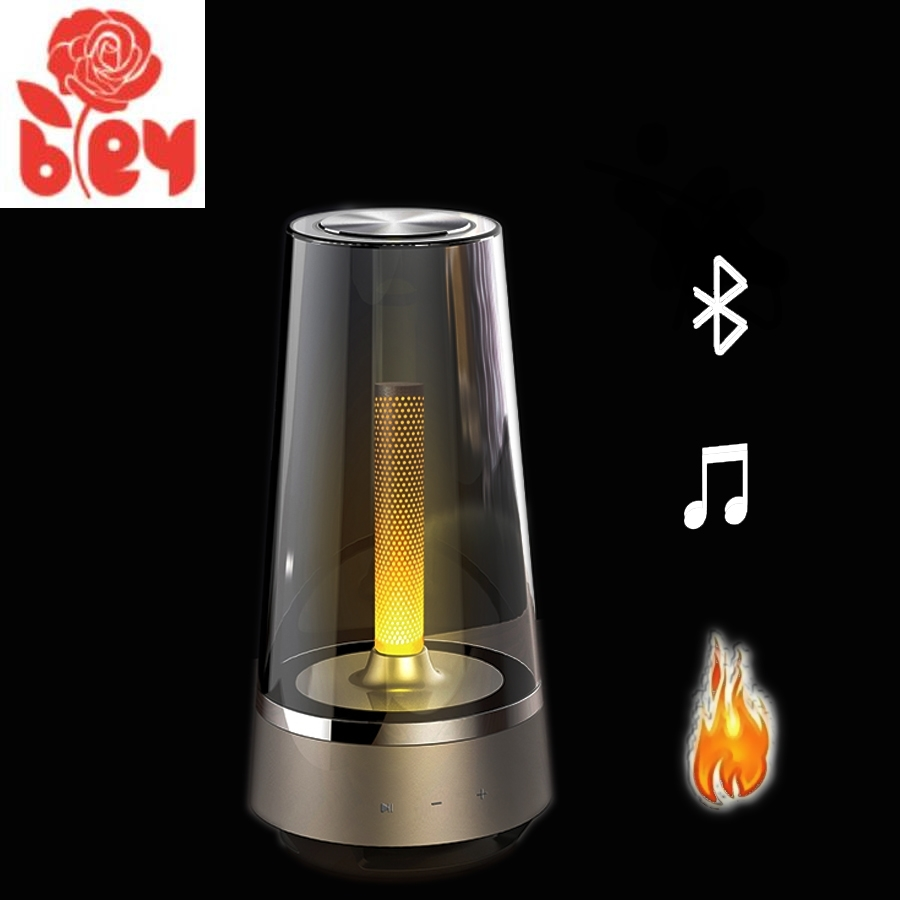 HOT Candle Light Bluetooth Speaker Control Led Night Light,Atmosphere Light Breathing Lamp For Your Phone