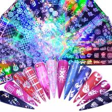 WUF Butterfly/Flame/Star/Fire Nail Foil transfer Set Decal For Nails Stickers flowers
