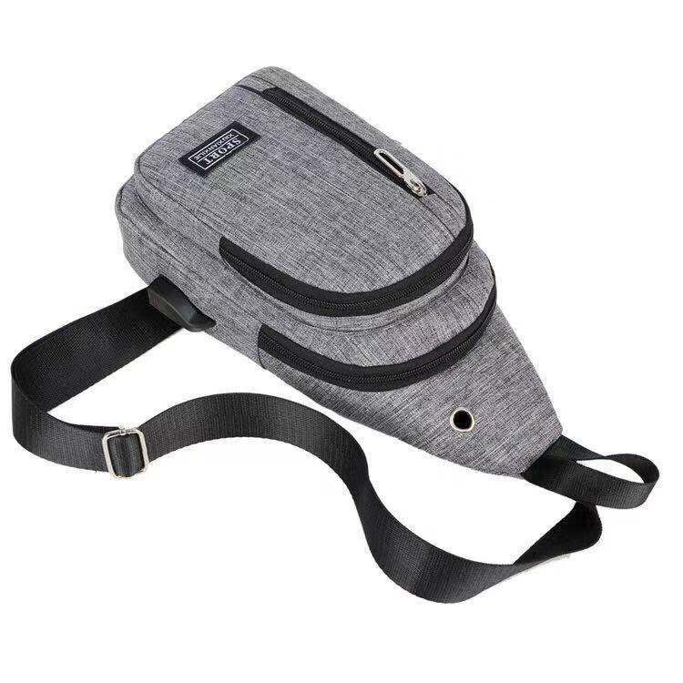 Men's Chest Pack Casual Haversack Rides Luggage Women's Shoulder Bag Fashion Man Outdoor Bag USB Electric Chest Pack