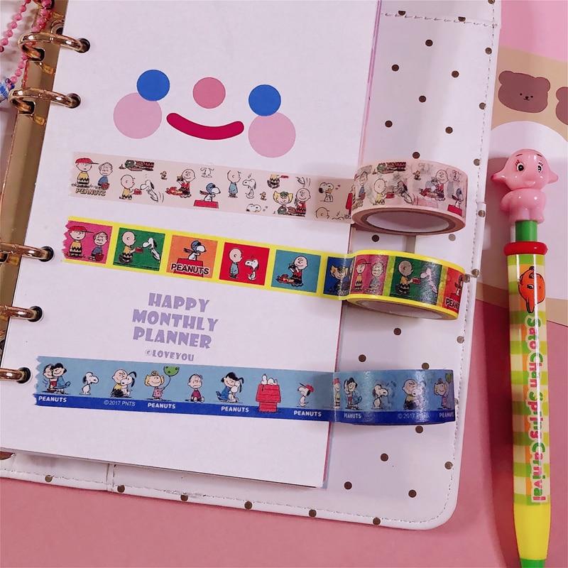 Snoopy Peanut Washi Masking Tape Scrapbooking Decorative 15mmx5m