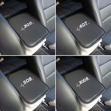 Автомобильный подлокотник Чехлы для хранения защиты подушки для peugeot 206 207 208 306 307 308 407 408 508 2008 3008 аксессуары