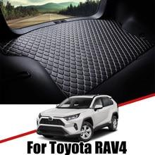 De cuero estera de maletero de coche para Toyota RAV4 2005 ~ 2020 XA30 XA40 XA50 alfombra cola de carga de almohadilla para botas 2019, 2018, 2017, 2016, 2015, 2014