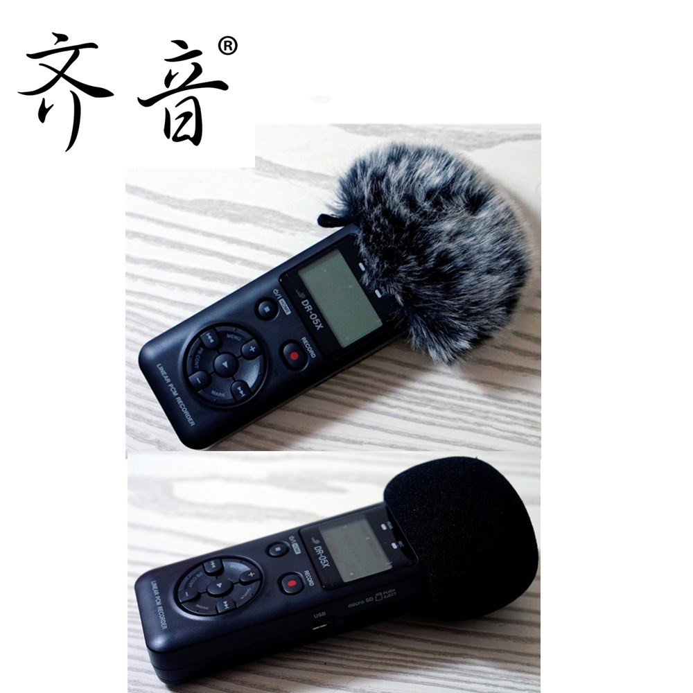 Dead Cat Recorders Artfificial Furry Microphone Mic Windscreen Wind Muff for Tascam DR-07 DR07X DR05
