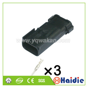 Image 1 - Ücretsiz kargo 5 takım 3pin FCI Apex 2.8 MM su geçirmez fişler erkek oto kablo konnektörü delphi 54200312