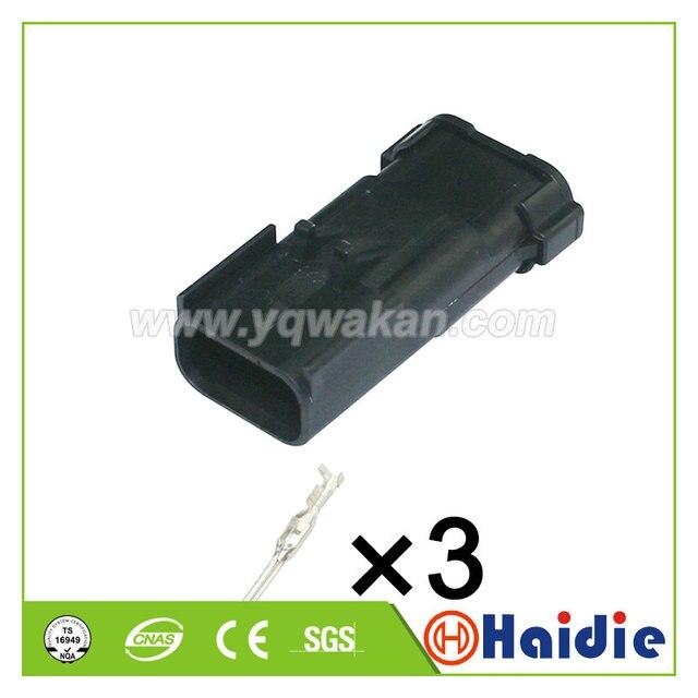 Ücretsiz kargo 5 takım 3pin FCI Apex 2.8 MM su geçirmez fişler erkek oto kablo konnektörü delphi 54200312