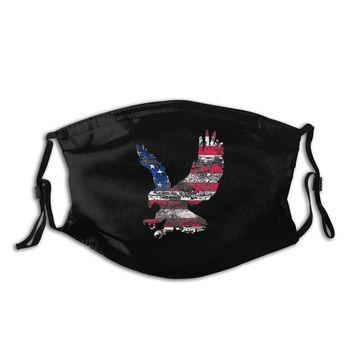 American Bald Eagle Mask Unisex Reusable Anti Haze Dustproof Protection Respirator Mask with Filters недорого
