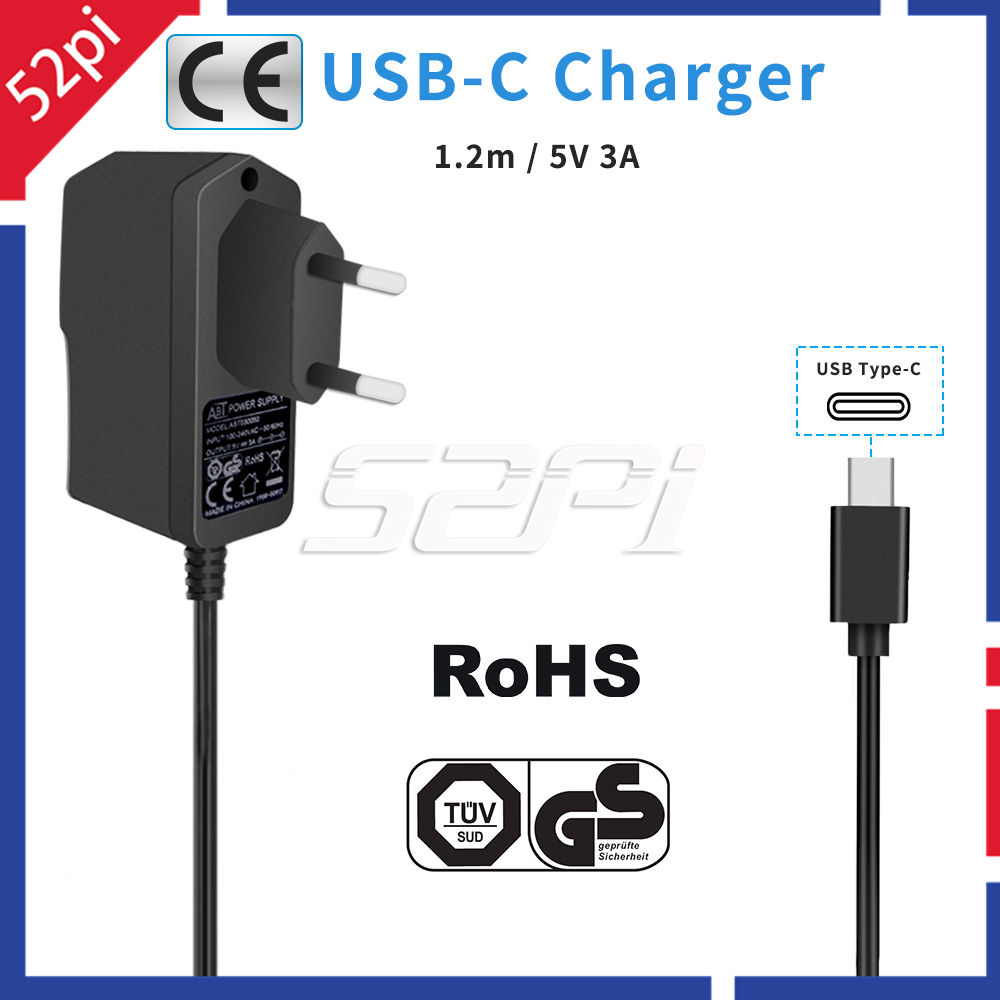 5V 3A Power Supply Adapter EU / US / UK Plug Charger Cable For Raspberry Pi 4 Model B Pi 4B / 3 Model B / 3 B+, 3B Plus
